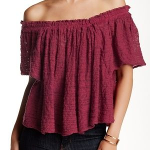 Free People Off-The-Shoulder Loose Top